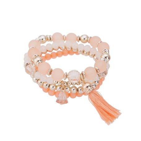 Kralen Ibiza Armband - Met Hanger & Tassels - Oranje