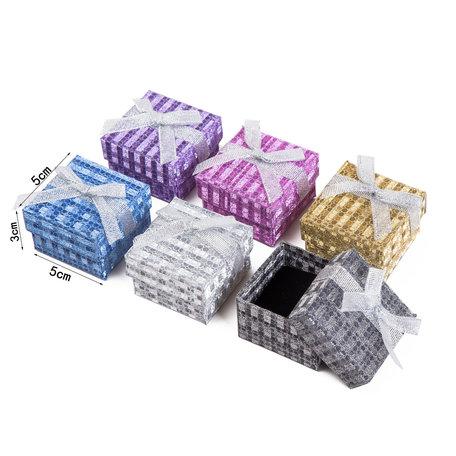 24 stuks Verpakkings doosjes ring 5x5x3 cm
