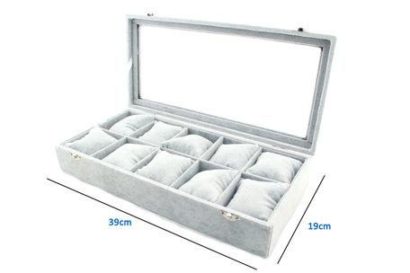 DISPLAY Koffer 10 VAK KUSSEN FLUWEEL