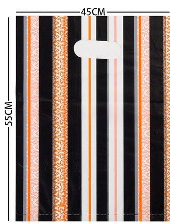 100 Stuks Plastic draagtas met gestanste handgrepen H55cm x B45cm
