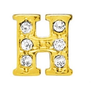 10 Stuks Floating Charm letter H