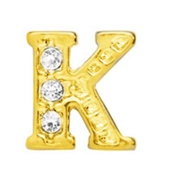 10 Stuks Floating Charm letter K