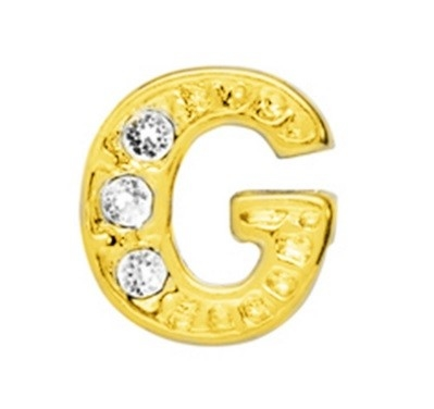 10 Stuks Floating Charm letter G