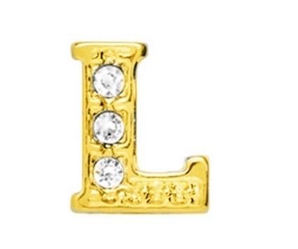 10 Stuks Floating Charm letter L