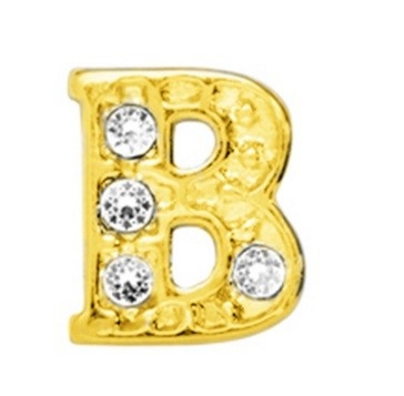 10 Stuks Floating Charm letter B