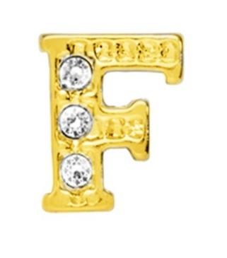 10 Stuks Floating Charm letter F