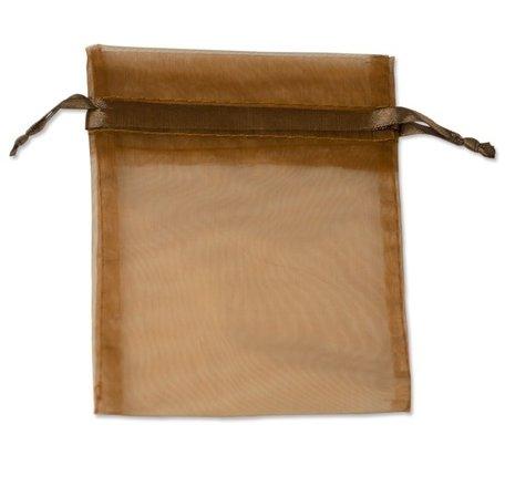 Organza zakjes Bruin 18x15 cm Pak van 100 Stuks