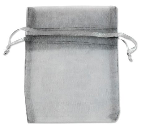 Organza zakjes Grijs (Silver) 18x15 cm Pak van 100 Stuks
