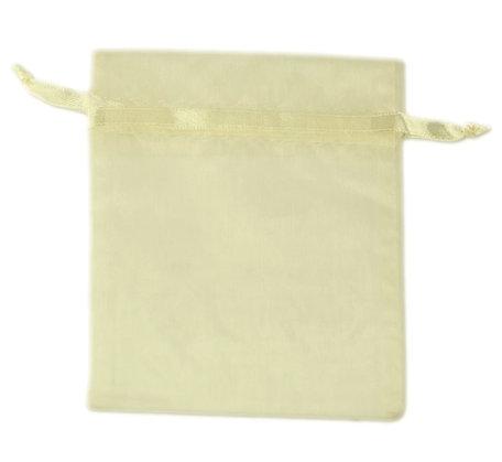 Organza zakjes donker ivoor Kleur 18x15 cm Pak van 100 Stuks