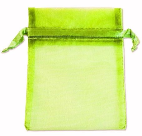 Organza bags Fluo Green 16x10 cm Pack of 100 Pieces