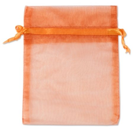 Organza bags Orange 16x10 cm Pack of 100 pieces