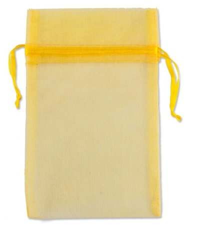 Organza bags Yellow 16x10 cm Pack of 100 pieces