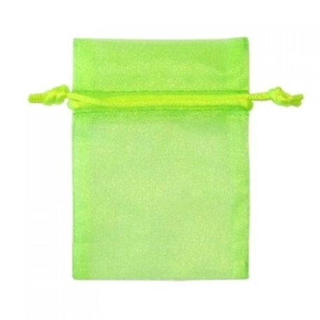 Organza bags Lime Green 16x10 cm Pack of 100 Pieces