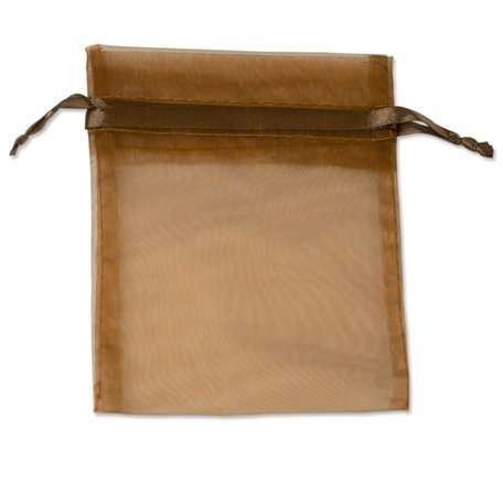 Organza bags Brown 16x10 cm Pack of 100 pieces