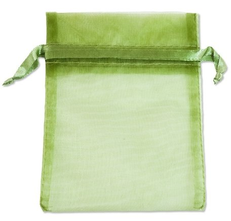 Organza bags Green 16x10 cm Pack of 100 pieces