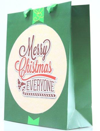 Kersttasjes, 30x42x12.5cm 12stuks, BxHxD  prijs per 12 stuks