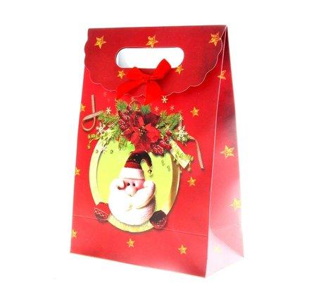 Kersttasjes, 24x31.5x12cm 12stuks, BxHxD  prijs per 12 stuks