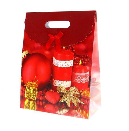 Kersttasjes, 24x31.5x12cm 12stuks, BxHxT  prijs per 12 stuks