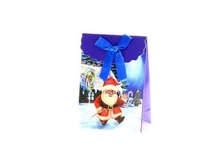 Kersttasjes, 7.5x11x4cm 12stuks, BxHxD  prijs per 12 stuks