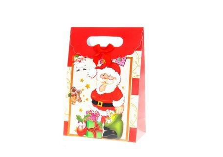 Kersttasjes, 19x27x9cm 12stuks, BxHxD  prijs per 12 stuks