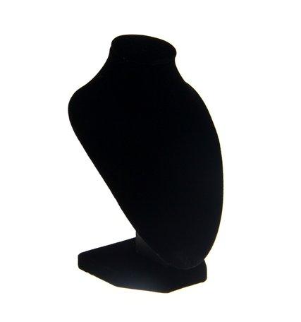 Display Hals Fluweel zwart 16 cm hoog