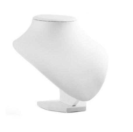 Display Hals Lederlook wit 18 cm hoog
