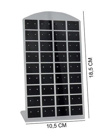 Oorbellen & Piercing Display Zwart voor 36 Piercings - 20 Stuks