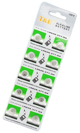 AG4 Button cell 200 pieces - batteries for watches - Alkaline 1,55V