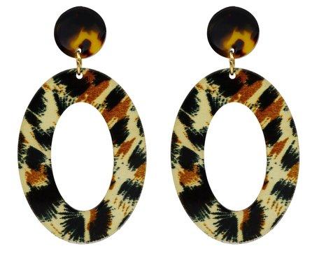 Leopard Print Hoop Oorbellen