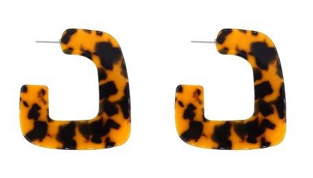 Leopard Print Oorbellen - Oranje & Zwart