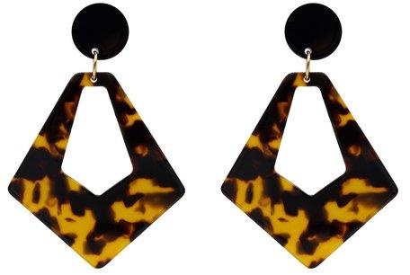 Leopard Oorbellen met oorstekers