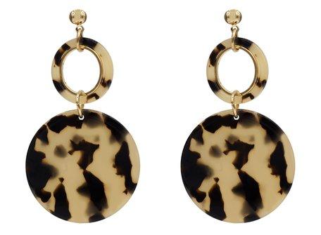 Leopard Oorbellen Hangers met oorstekers - Beige & Zwart