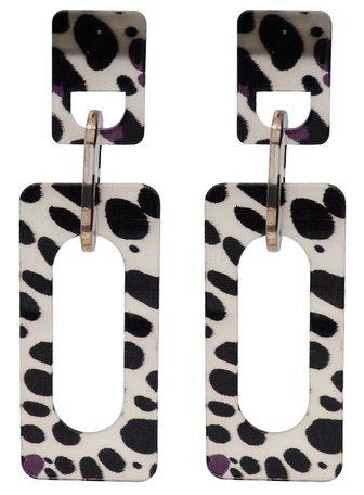 Leopard Hoop Oorbellen Hangers met oorstekers