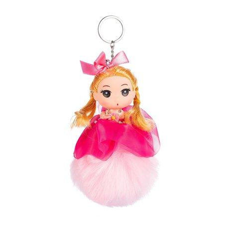 Sleutelhanger - Prinses met Strikje & Muts - Roze