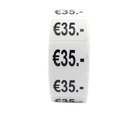 Prijs stickers €35 500 stk - 2 cm Breed x 1,5 cm Hoog