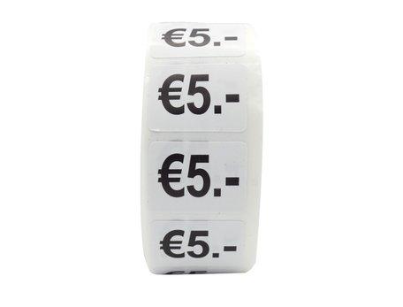 Prijs stickers €5 500 stk - 2 cm Breed x 1,5 cm Hoog