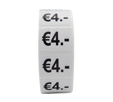 Prijs stickers €4 500 stk - 2 cm Breed x 1,5 cm Hoog