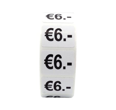 Prijs stickers €6 500 stk - 2 cm Breed x 1,5 cm Hoog