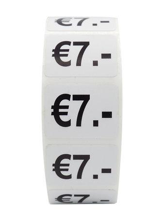 Prijs stickers €7 500 stk - 2 cm Breed x 1,5 cm Hoog