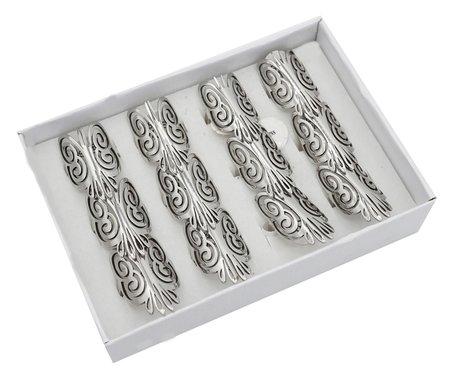 12 RVS Ringen - Vlinder - Zilver