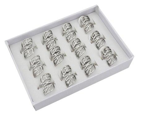 12 RVS Ringen - Laurel Blad - Zilver