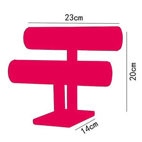 Sieraden Display 2 Rol Fluweel Roze