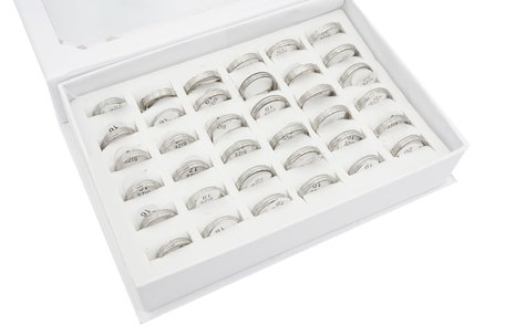 36 RVS Ringen - Glinsterend - Zilver