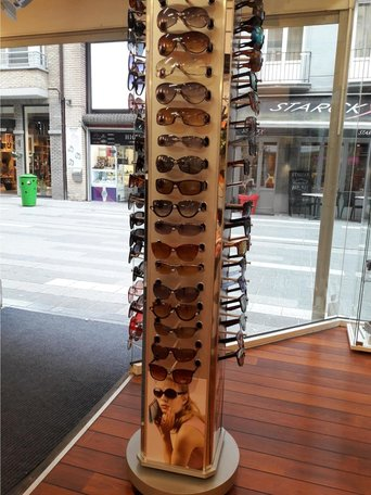 Glasses Display Windmill Rotating 170 cm High with Mirror