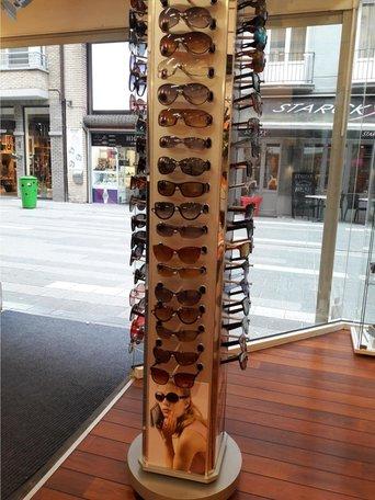 Brillen Display Molen Roterend 170 cm Hoog met Spiegel