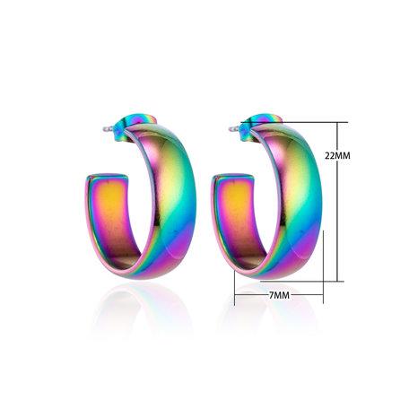 Creolen RVS Oorringen Roestvrij Staal - Rainbow