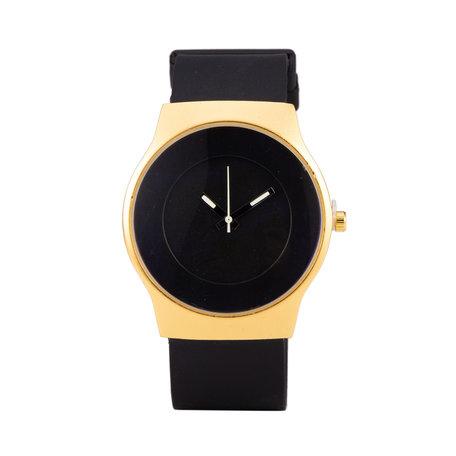 Quartz Watch (35mm) - Zwart & Gold