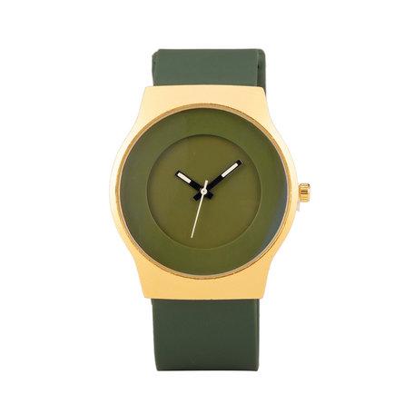 Quartz Watch (35mm) - Groen & Gold