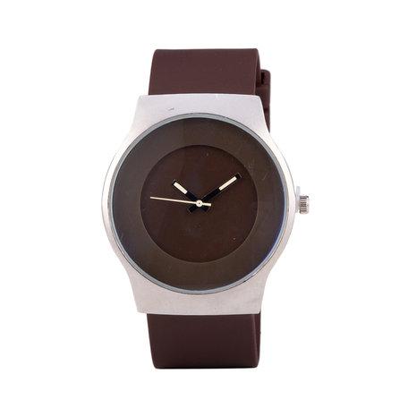 Quartz Horloge (35mm) - Rood & Zilver