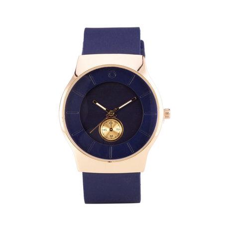 Quartz Horloge (35mm) - Blauw & Goud